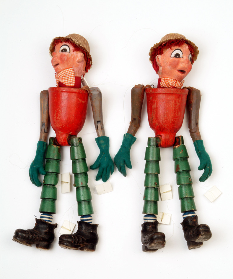 Museum of London - Museum of London - Galleries of Modern London, Bill and Ben original puppets from the BBC TV programme