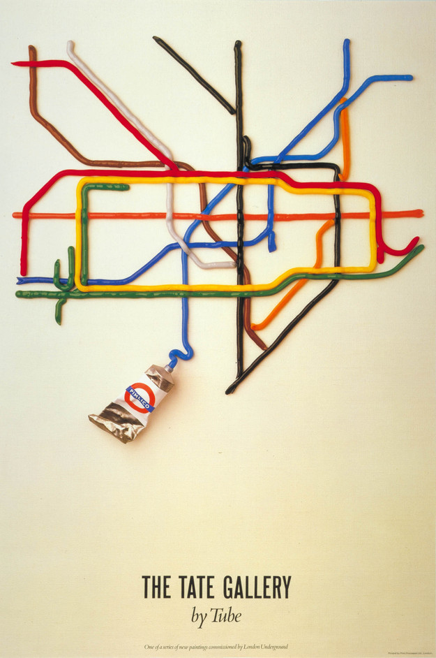 Mind the Map - The Tate Gallery by tube, by David Booth of the agency Fine White Line, 1987
