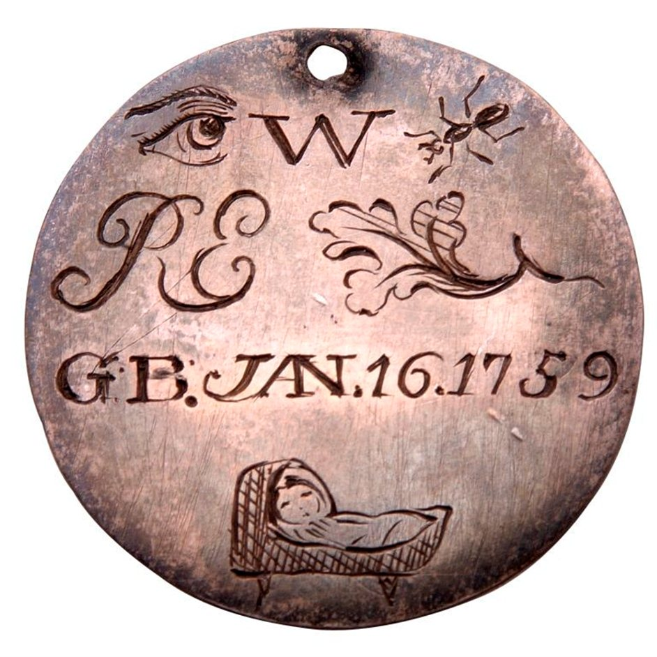 A token left with an infant admitted to the Foundling Hospital