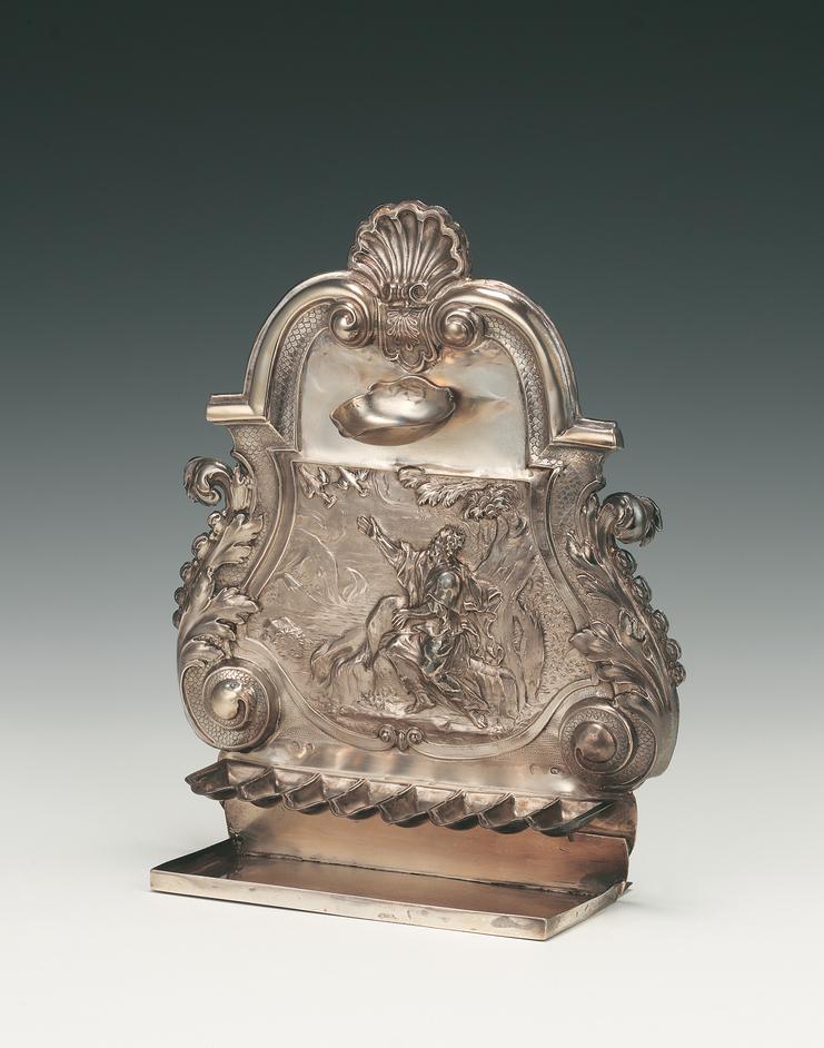 Jewish Museum - Silver Hanukah lamp. John Ruslen,  London, 1709. Credit: Jewish Museum London