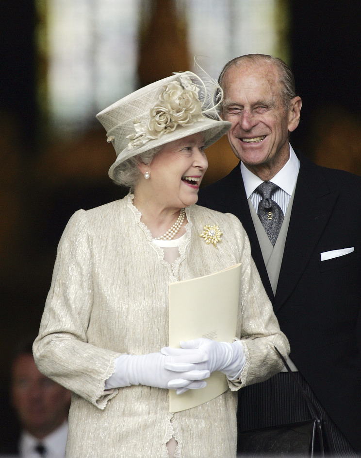 The Queen: Sixty Photographs for Sixty Years - The Queen and The Duke of Edinburgh at a Service of Thanksgiving for Her Majesty's 80th Birthday at St Paul's Cathedral, 15 June 2006. Photograph: (c) Ian Jones