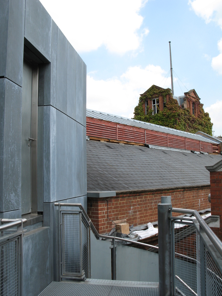 The Wapping Project - The view at the rooftop: (left) a door that leads out to nowhere