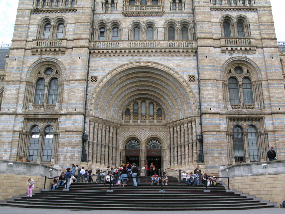 Natural History Museum - The entrance of the Natural History Museum at Cromwell Road