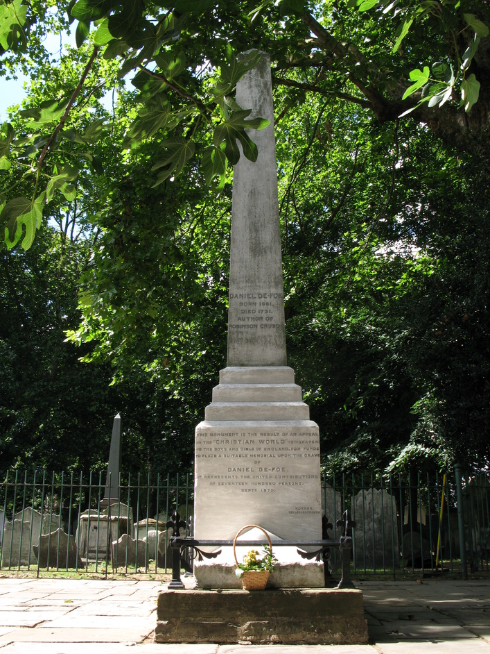 Bunhill Fields - Daniel Defoe's memorial