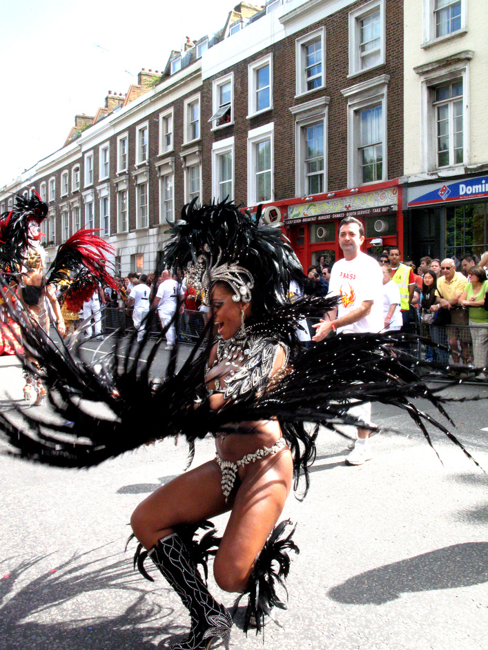 Notting Hill Carnival - Ruffling her feathers.