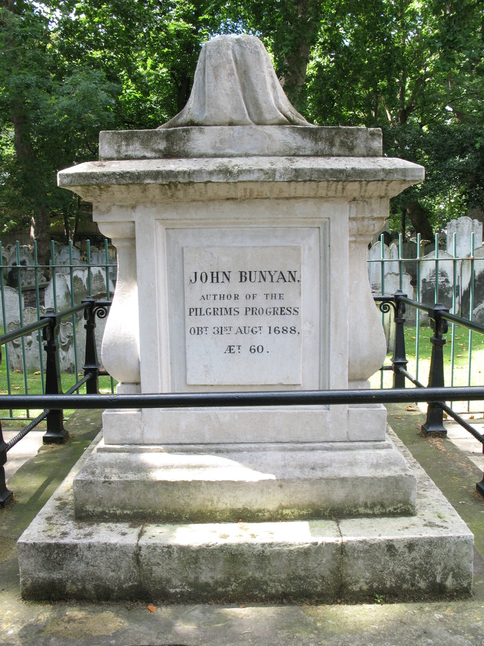Bunhill Fields - John Bunyan, author of the Pilgrim's Progress
