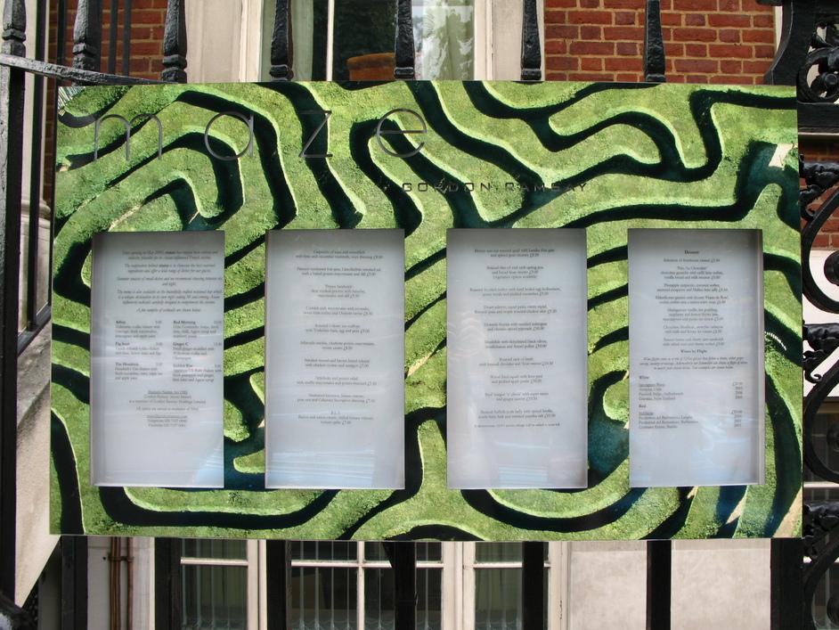 maze - Gordon Ramsay - The current Maze menu