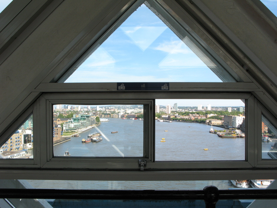 Tower Bridge - Looking out of the upper walkway