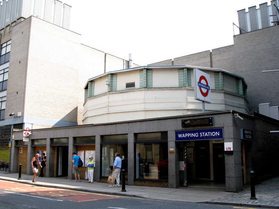 Wapping Wall - The Wapping Tube Station
