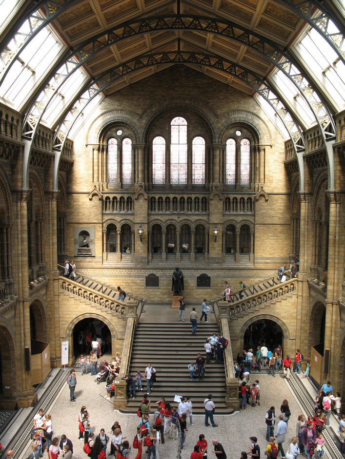 Natural History Museum - View of the back of the Central Hall