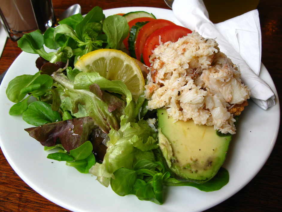 Market Coffee House - Crab and Avocado Salad