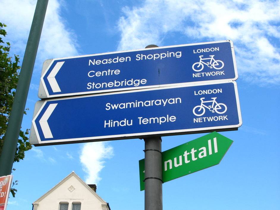 Shri Swaminarayan Mandir (Hindu Temple) - The route to the Shri is bike-friendly too.