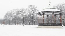 Santa Run - Greenwich Park, Bandstand in Winter