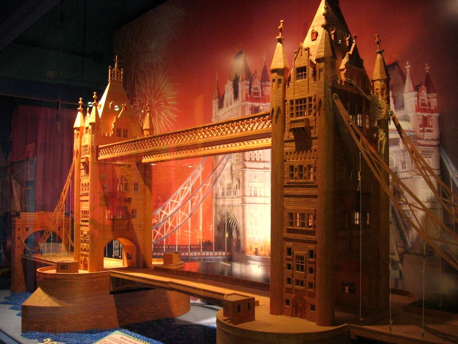 Ripley's Believe It Or Not! Museum London - Tower Bridge in Matchsticks - built by Reg Pollard of Manchester from 264,345 matchsticks
