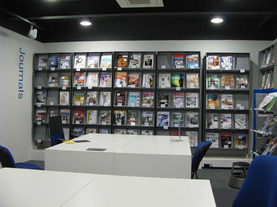 The Building Centre - Area for members to browse journals