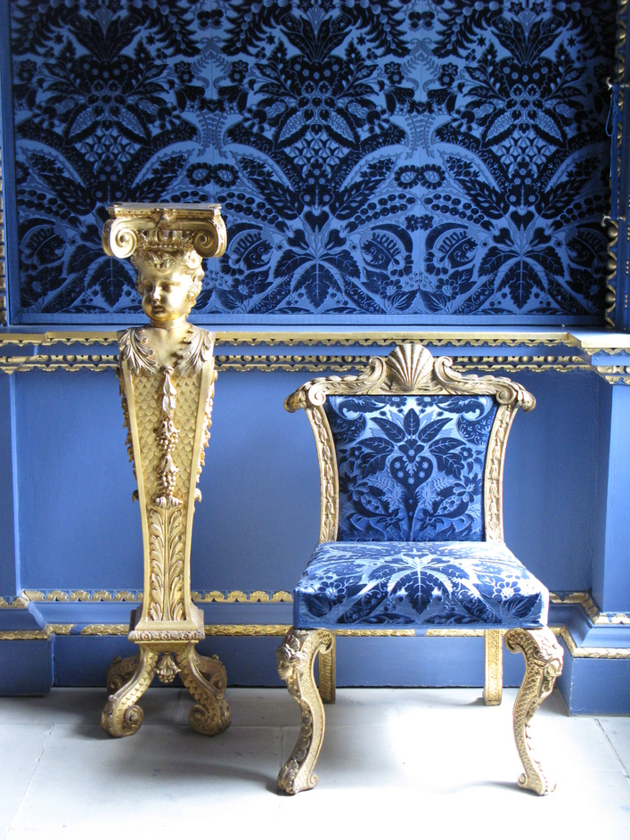 Chiswick House - Furniture in the Blue Velvet Room