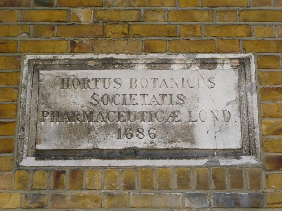 """Chelsea Physic Garden - """"Hortus Botanicus Societatis Pharmaceauticae Lond 1686"""""""
