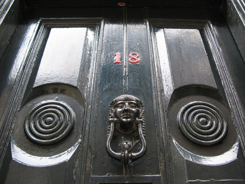 Folgate Street - Dennis Severs House's main door