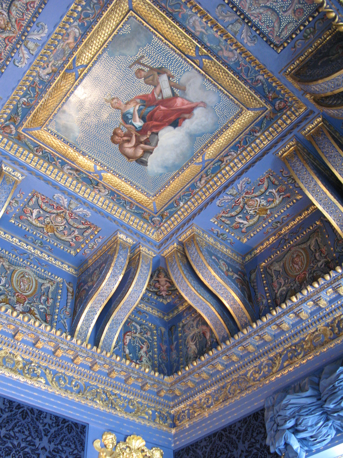 Chiswick House - Ceiling of the Blue Velvet Room - painted in imitation of mosaic