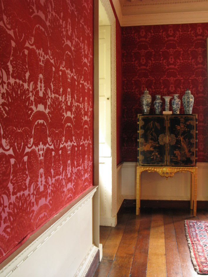 Marble Hill House - The Damask Room was probably originally intended as a dressing room adjacent to a bedchamber.