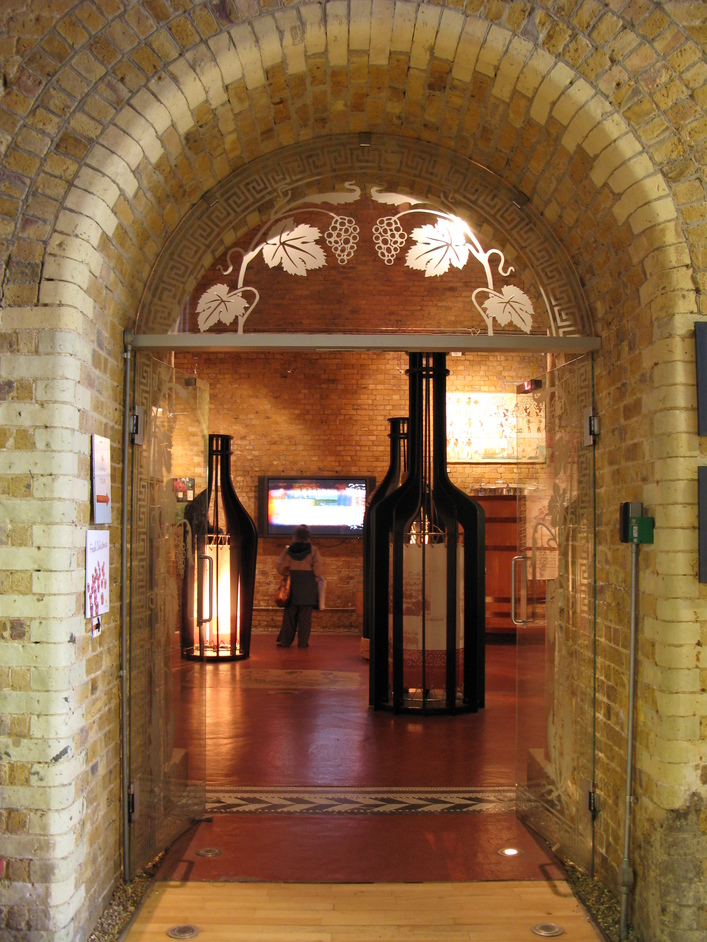 Vinopolis Wine Wharf - The entrance into the exhibition and wine-tasting area.