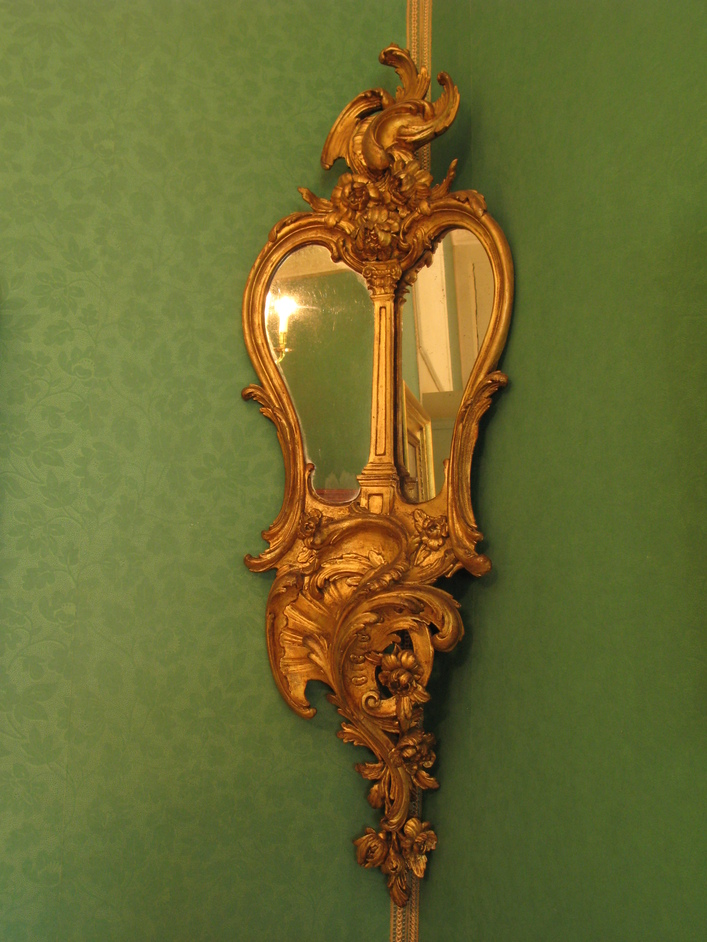 Marble Hill House - Corner mirror in the Green Room