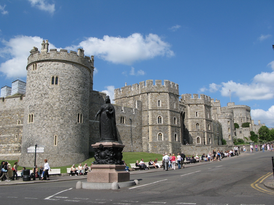 Windsor Castle - View from across the road (outside Windsor Castle)