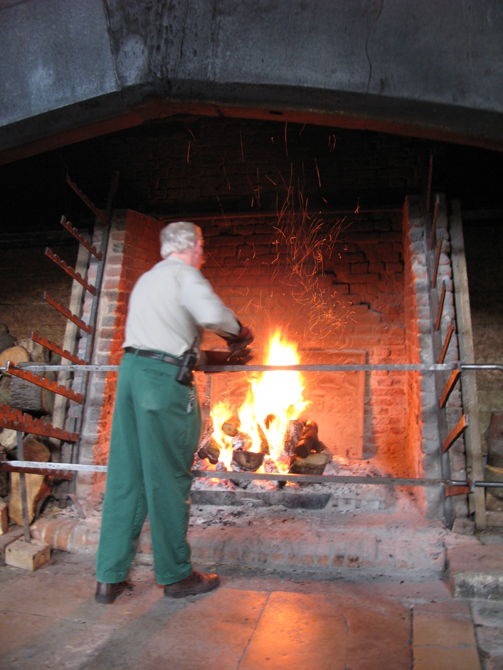 Hampton Court Palace - Tudor Kitchens fired up every first Saturday of the month.