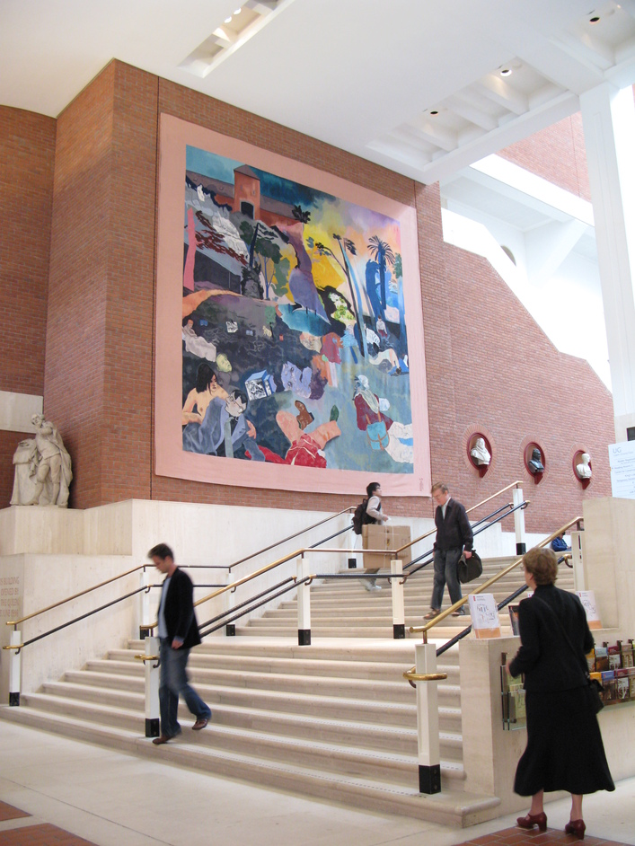 British Library - The largest tapestry in the world - woven by the Master Weavers of the Edinburgh Tapestry Compan, after the painting 'If not, not' by R B Kitaj
