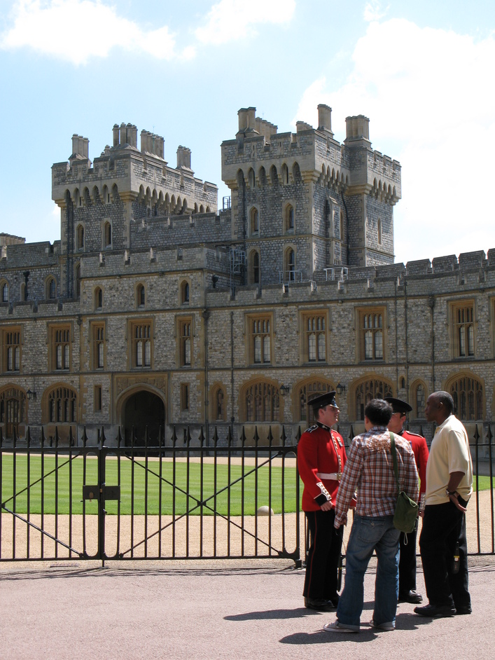 Windsor Castle - Guards outside the Quadrangle