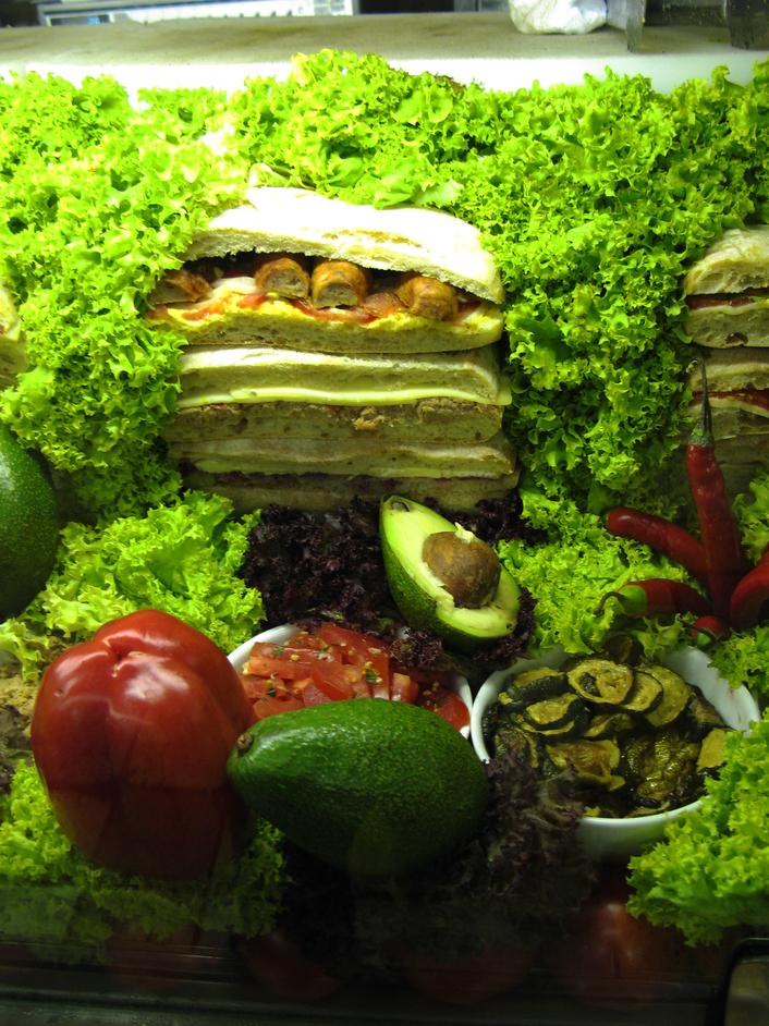 Bar Italia - Sandwich salad anyone? - The Bar Italia food display