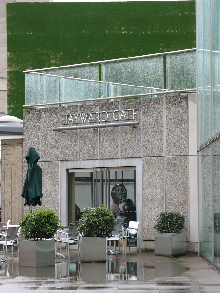 The Hayward Gallery - The Hayward Cafe - which is also a Starbucks