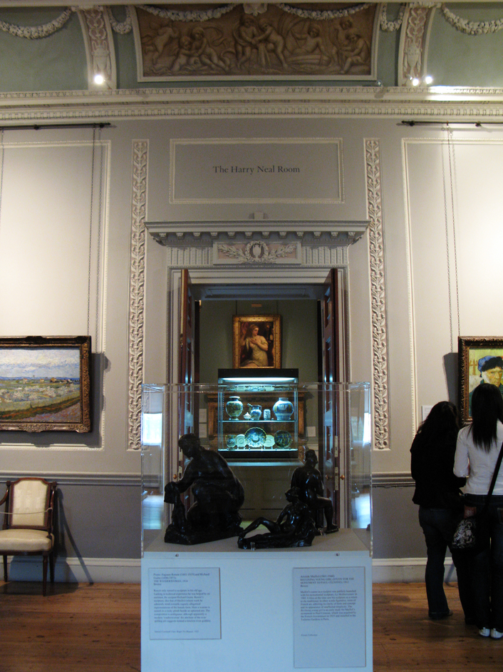 Courtauld Institute Gallery - Entrance to the Harry Neal Room - one of the many intricate rooms at the Courtauld.