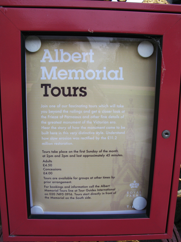 Albert Memorial - Albert Memorial Tours take place on the first Sunday of the month.