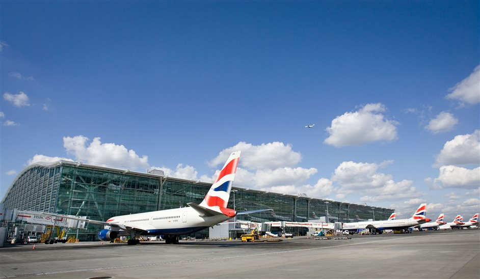 Heathrow Airport - Terminal 5 airfield exterior