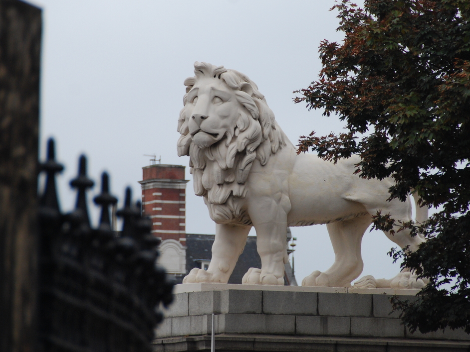 Westminster Bridge - The South Bank Lion On Westminster Bridge Road
