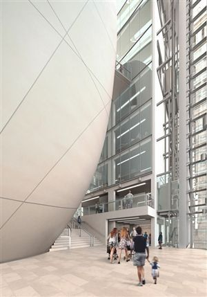 The Darwin Centre - Darwin Centre atrium (artist impression). Copyright Natural History Museum