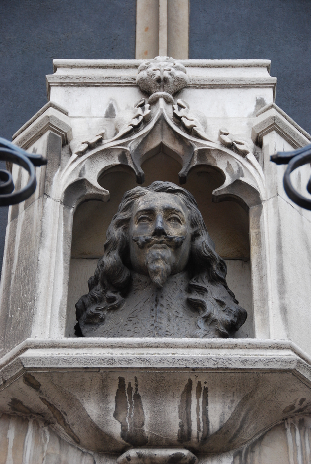 St Margaret's Church - Charles I Bust On The Exterior Of St Margarets