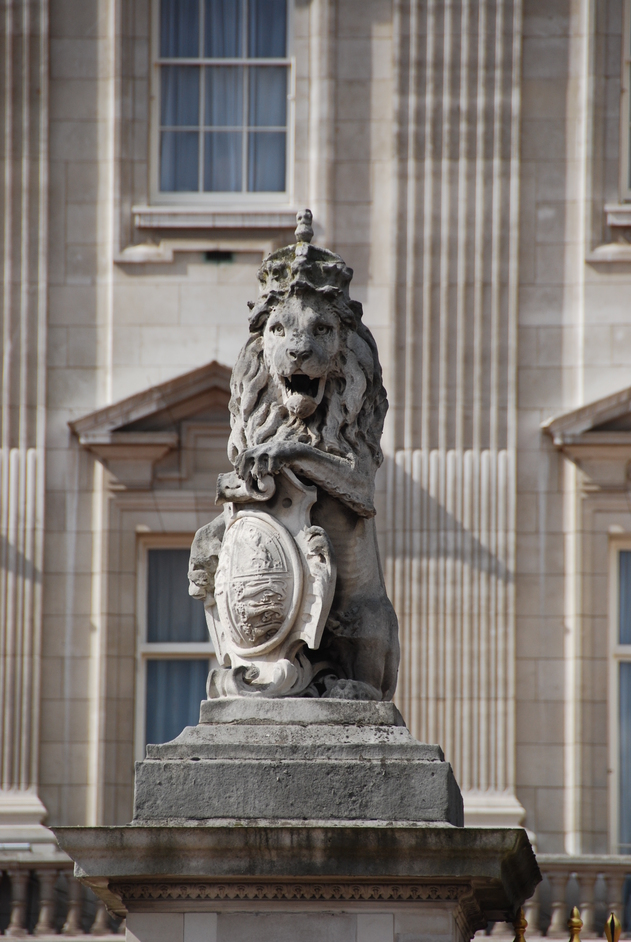 Buckingham Palace  - Lion Figure On Palace Gate