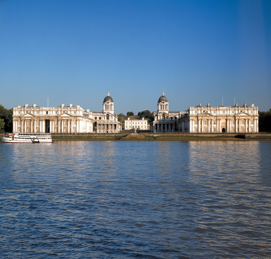 National Maritime Museum - View of the Royal Naval College and Queen's House � WHS Greenwich
