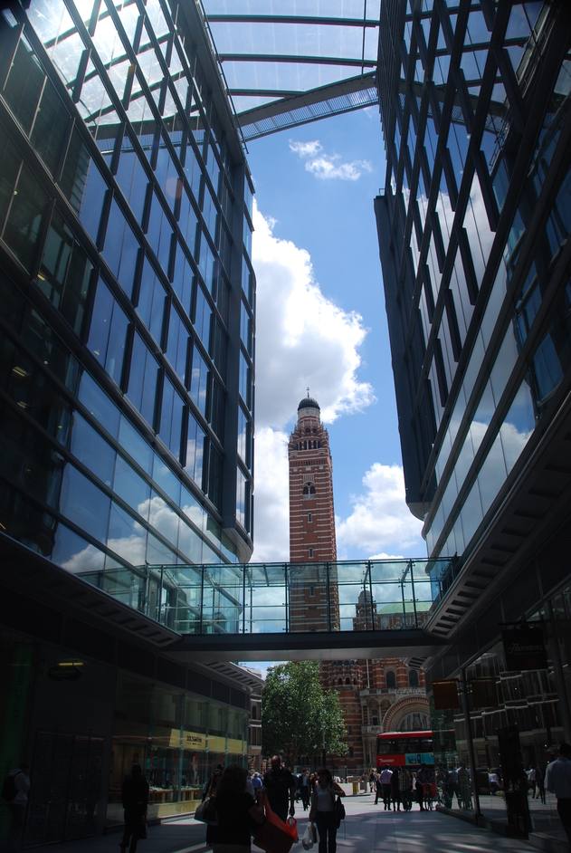 Westminster Cathedral - View Of Westminster Cathedral From The New Complex On Victoria Street