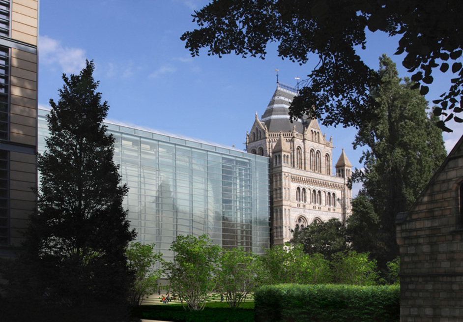 Natural History Museum - Darwin Centre exterior (artist impression). Copyright Natural History Museum