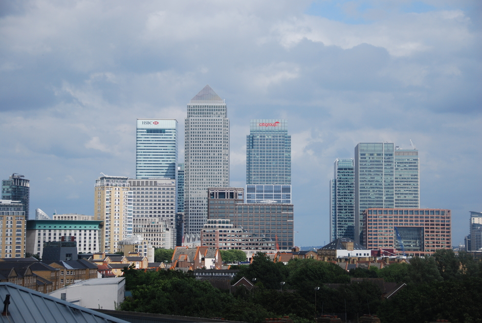 Canary Wharf - View Of Canary Wharf & Other Docklands Towers