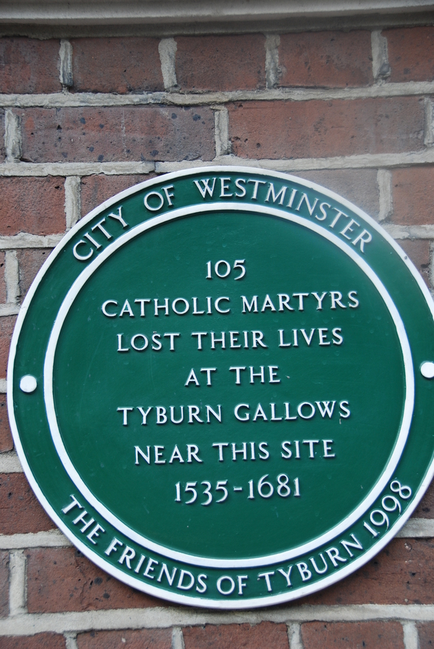 Bayswater Road - Tyburn Convent Plaque