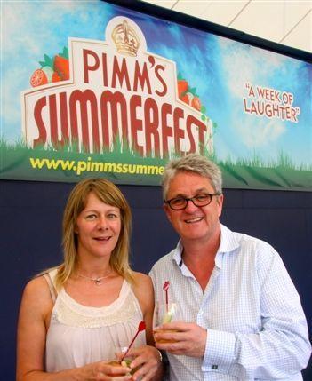 Opera Holland Park - Tania Harrison (left), Melvin Benn @ Pimm's Summerfest
