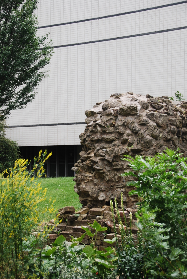 Museum of London - Part Of The Roman Wall Outside The Museum Of London