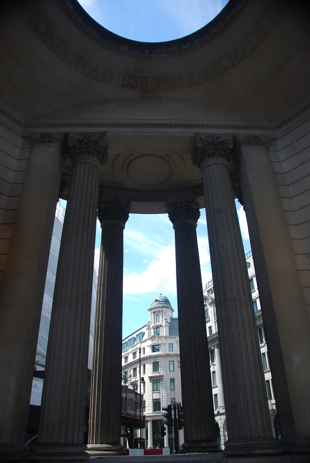 Bank of England Museum - Doric Columns Of The Bank Of Engl