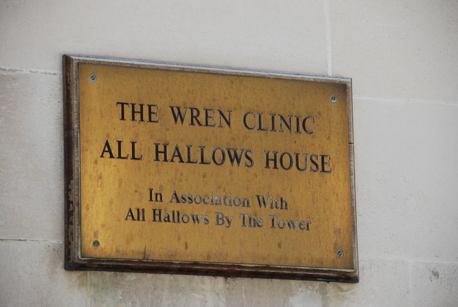 St Mary At Hill - Wren Clinic Sign