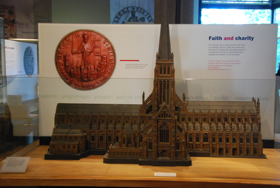 Museum of London - Old St Paul's Model At The Museum Of London