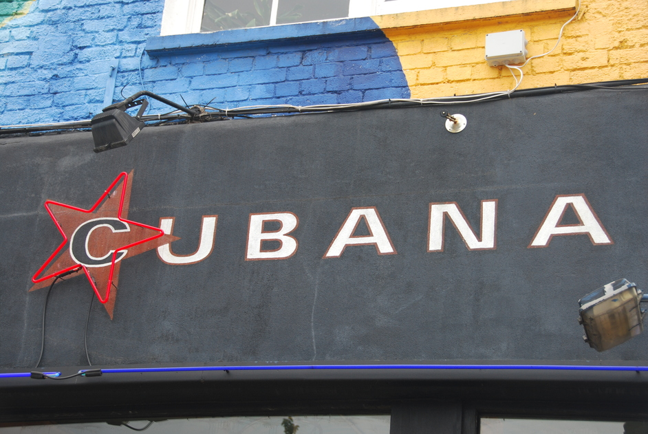 Lower Marsh - Cubana Restaurant Sign